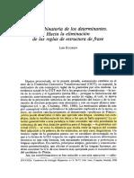 Análisis del Determinante en español Eguren