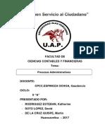 Procesos Administrativos Monografia y Caso Practico