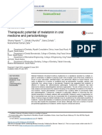 Therapeutic Potential of Melatonin