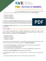 Exercícios de Gramática 12.ºano 2010 2018