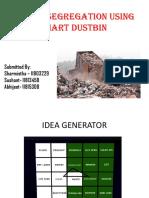 Waste Seggregation Using Smart Dustbin