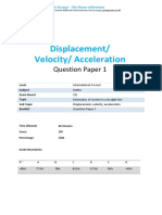 27.1-Displacement Velocity Acceleration-cie Ial Maths-qp