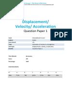 27.1-Displacement Velocity Acceleration-cie Ial Maths-qp