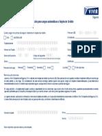Autorizacion Cargo Automatico Tarjeta