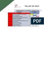 Diagrama de Gantt - Cronograma de Actividades