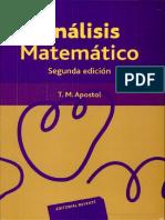 Análisis Matematico 2ed - Tom Apostol