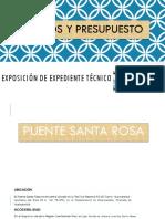 Exposición de Expediente Técnico de COSTOS Y PRESUPUESTOS
