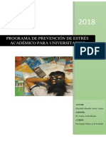 Programa de Prevención de Estrés Académico Para Universitarios