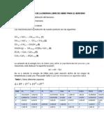 Análisis de la energía libre de gibbs del benceno