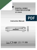 Manual samsung teatro en casa modelo HT-DB600