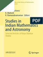 Studies in Indian Mathematics and Astronomy - Kripa Shankar Shukla