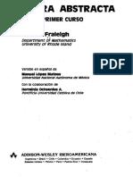 Algebra Abstracta Fraleigh