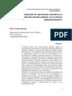 Parody, Viviana; Hacia la sistematización de experiencias educativas en torno a la población afrodescendiente en el contexto latinoamericano