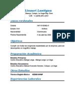 Curriculum Vitae -Linauri Lantigua