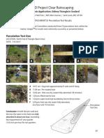 Sidney Street Triangle Garden Percolation Tests