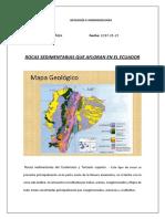 Rocas Sedimentarias AFLORAN ECUADOR - Copia