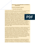 Teorías Explicativas de Las Disparidades Económicas Espaciales