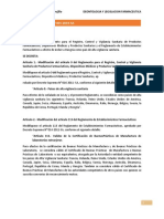 deontologia Farmaceutica -DECRETOS
