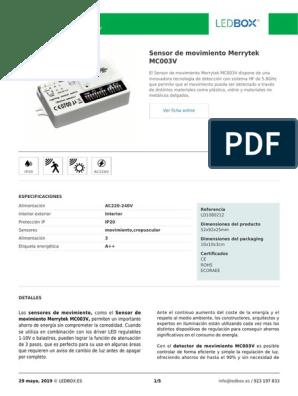 Sensor crepuscular Merrytek MS01 1-10V