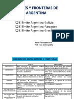Limites Argentina Con Bolivia-paraguay y Brasil