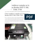 Cómo Restablecer Contador en La Impresora Brother DCP T