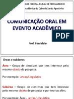 1 - Modalidades de Comunicação Oral Em Eventos