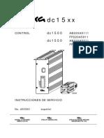Instrucciones de Servicio EFKA dc 15