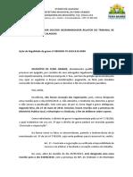 REQ - FEIRA GRANDE X SINDISFEIRA - ILEGALIDADE DE GREVE - MANIFESTAÇÃO TUTELA DE URGÊNCIA - 0802839-70.2019.8.02.0000