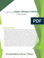Psychoanalytic Literary Criticism