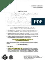 Circular No. 02 de 2019. Planeación Académica