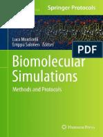 Biomolecular Simulations Methods and Protocols