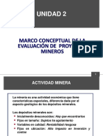 Unidad 2 Marco Conceptual de La Evaluacion de Proyectos Mineros