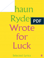 Wrote For Luck - Selected Lyrics.epub