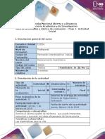 Guía de actividades y rúbrica de Evaluación- Paso 1- Actividad Inicial