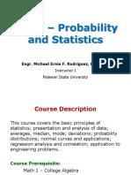Prob and Statistics