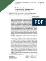 Factores de Resiliencia y Afrontamiento como Predictores del Rendimiento Académico de los Estudiantes en Universidades Privadas