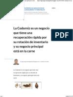 La Codorniz es un negocio que tiene una recuperación rápida por su rotación de inventario y su negocio principal está en la carne.pdf