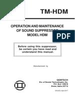 operation of sound suppressor model HDM