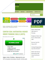 Contoh Soal Matematika Higher Order Thinking Skills (HOTS) - Matematrick