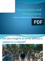 Organization and Management Chapter 1