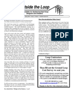 Spring 2000 Outside the Loop Newsletter for Geothermal Heat Pump Designers and Installers