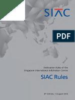 2016 SIAC Arbitration Rules