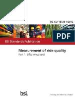 ISO 18781-1 Elevator Ride Quality Standard