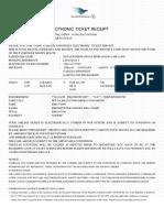 Flight E-ticket - Order ID 74205459 - 15052019