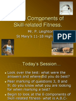5the 6 Components of Skill Related Fitness