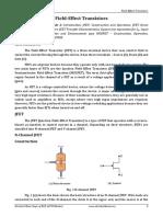 Basic Electronics - Field-Effect Transistors (Module 2)