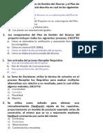 PMP Examen Gestion Alcance