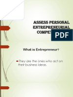 Assess Personal Entrepreneurial Competencies