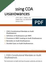 Addressing COA Disallowances
