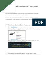 5 Websites Untuk Membuat Kartu Nama Sendiri